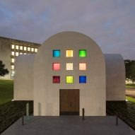 Rainbow windows pattern Ellsworth Kelly's minimal Austin pavilion