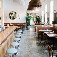 Vintage objects populate restaurant in Charleston by Basic Projects