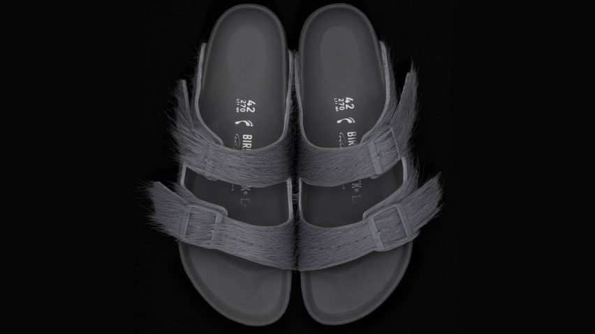 02233c4b961 Rick Owens creates calf-hair sandals for Birkenstock