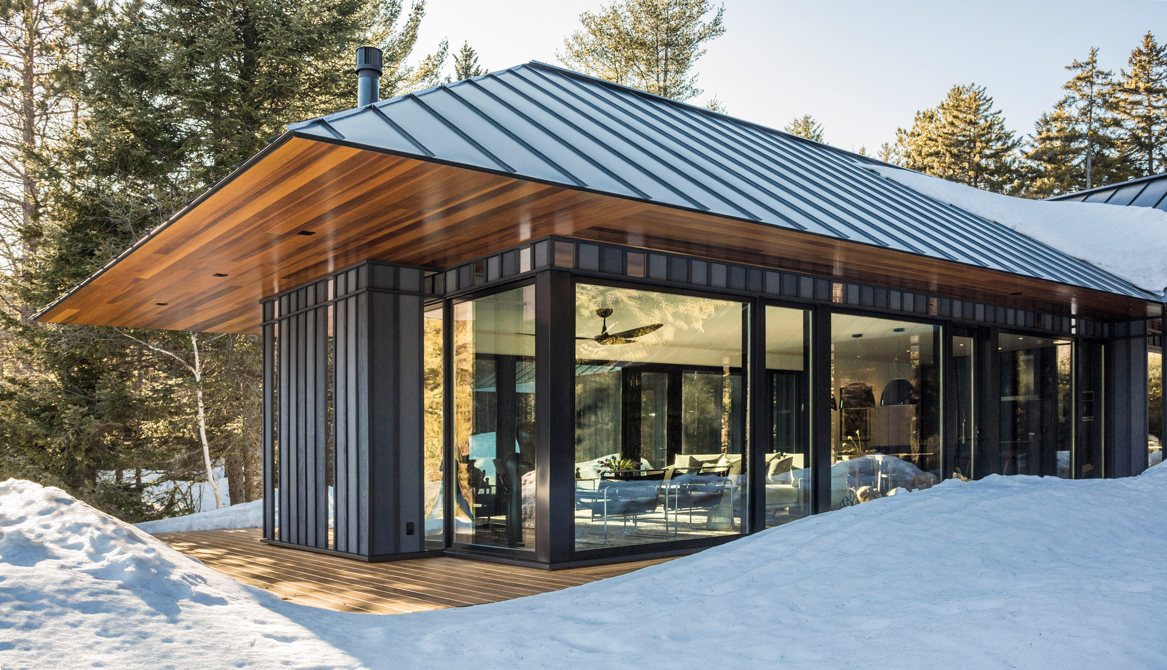 Birdseye Design references local vernacular for secluded Vermont dwelling