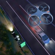 Carlo Ratti unveils smart road system complete with on-demand drone swarms