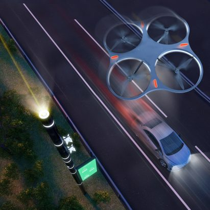 Carlo Ratti unveils smart road system with flying drones