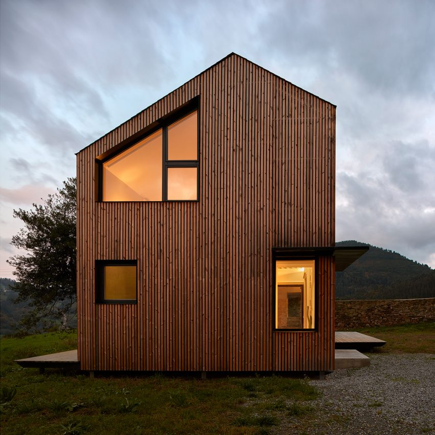 Dezeen's top 10 houses of 2018: Casa Montaña, Spain, by Baragaño Architects