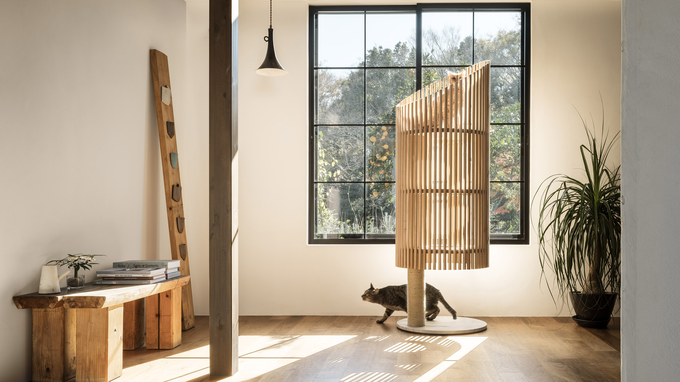 Cat-related design | Dezeen on amazing cat houses, cat play furniture, cat room ideas, cat friendly home ideas, cat friendly rooms, cat play houses, cat play gym, cat trees, cat house design ideas, cat wall, cat houses at target, cool cat houses, cat gym houses, cat house plans, cat condo ideas,
