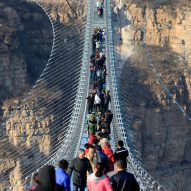 World's longest glass-bottomed suspension bridge has an intentional wobble