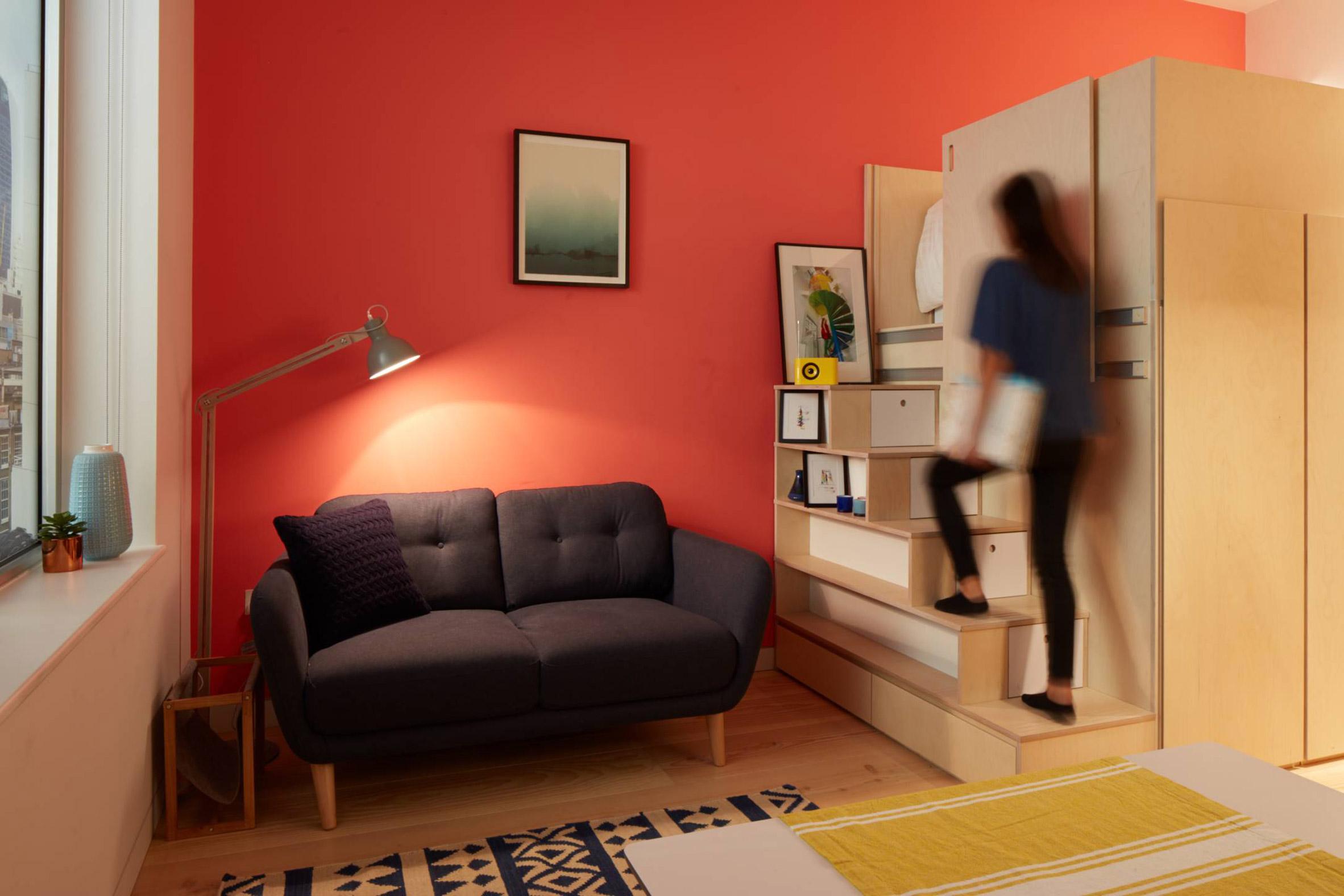 Ab Rogers Design creates 19-square-metre apartment in London