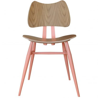Ercol has given a millennial pink makeover to two of its original designs originally created by founder Lucian Ercolani in the 1950s.