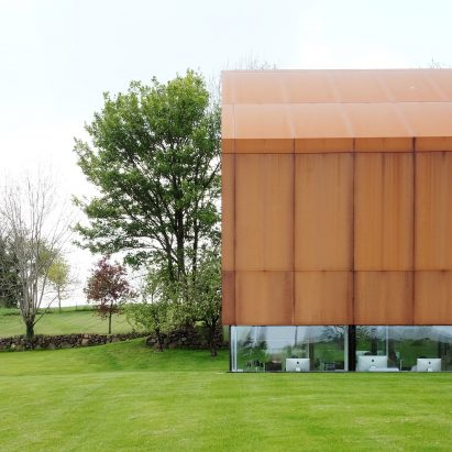 Weathering steel architecture and design dezeen for Office design northern ireland