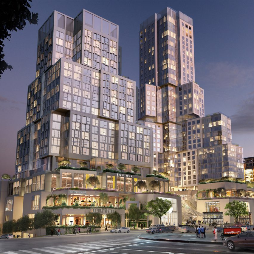 Frank gehry updates the grand mixed use development for for Los angeles architecture