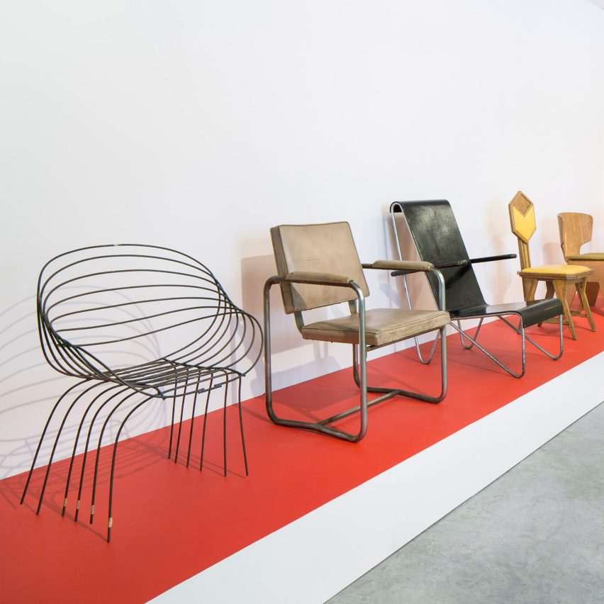 Inside the walls exhibition at friedman benda showcases for Furniture design exhibition