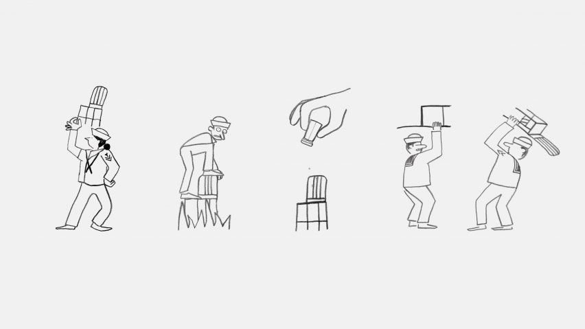 Jean and Nicolas Jullien illustration of Emeco Navy Chair