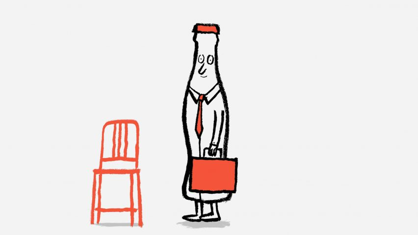 Jean and Nicolas Jullien illustration of Emeco 111 Navy Chair