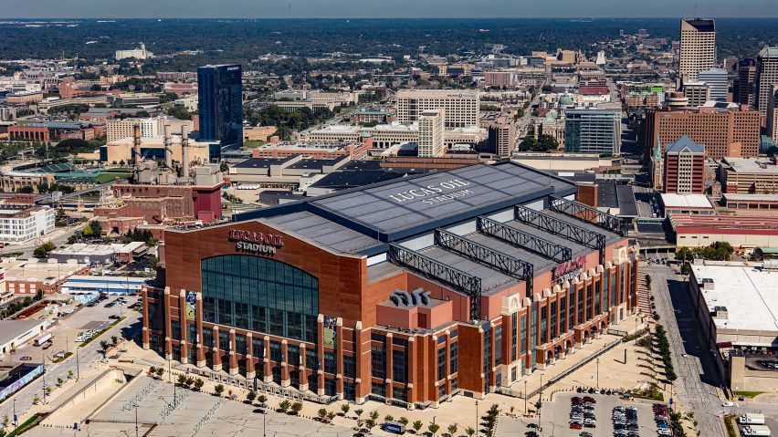 Lucas Oil Stadium by HKS, Indianapolis, Indiana