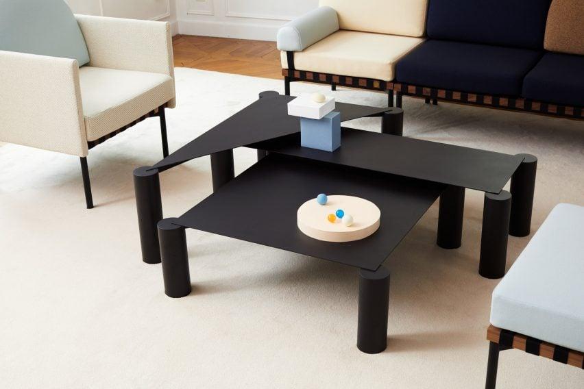Terrific Max Enrich Creates Nesting Coffee Tables With Bulky Legs And Creativecarmelina Interior Chair Design Creativecarmelinacom