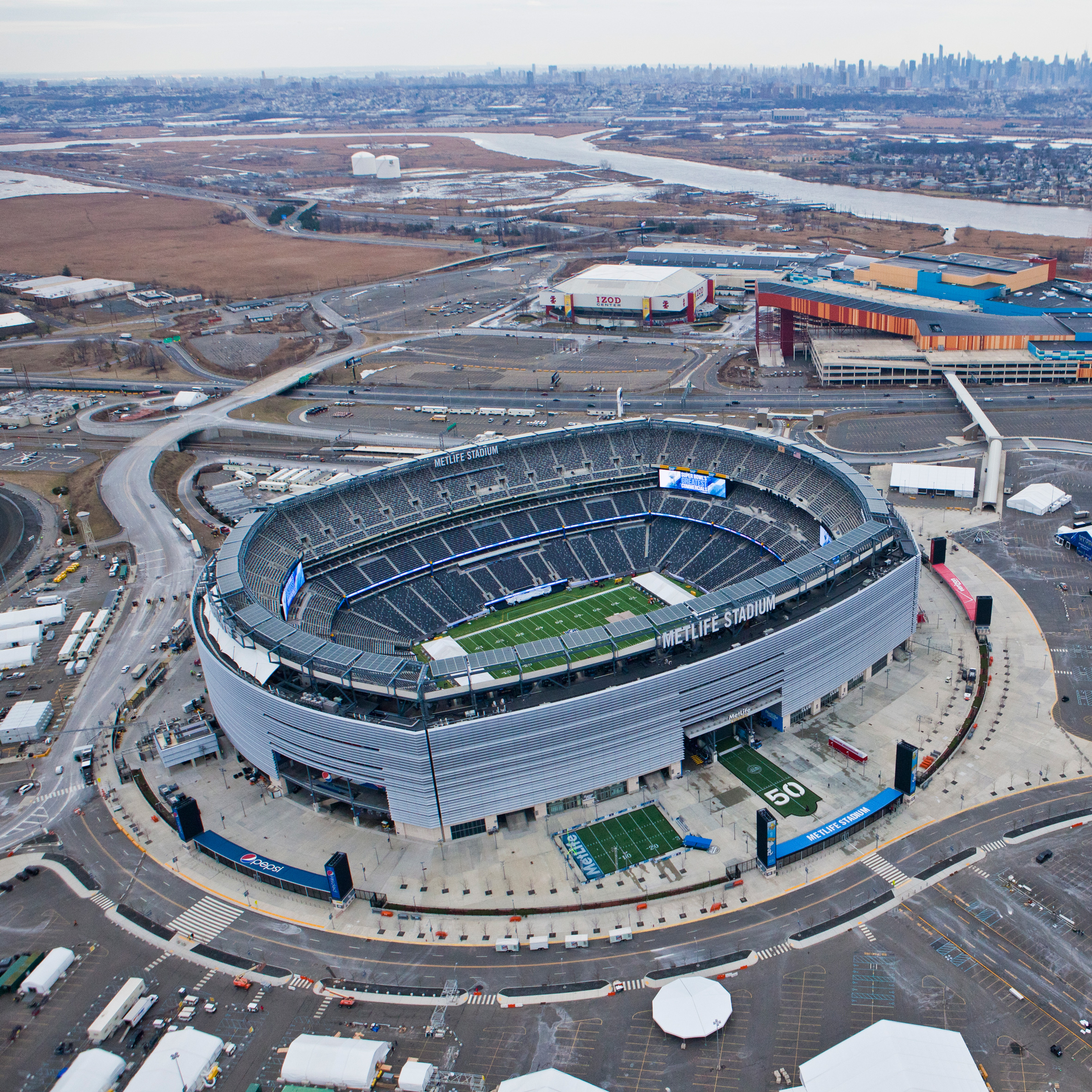 MetLife Stadium by HOK, Bruce Mau and Rockwell Group, East Rutherford, New Jersey