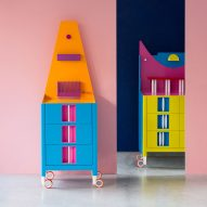 Adam Nathaniel Furman creates a pair of cartoon-inspired cabinets