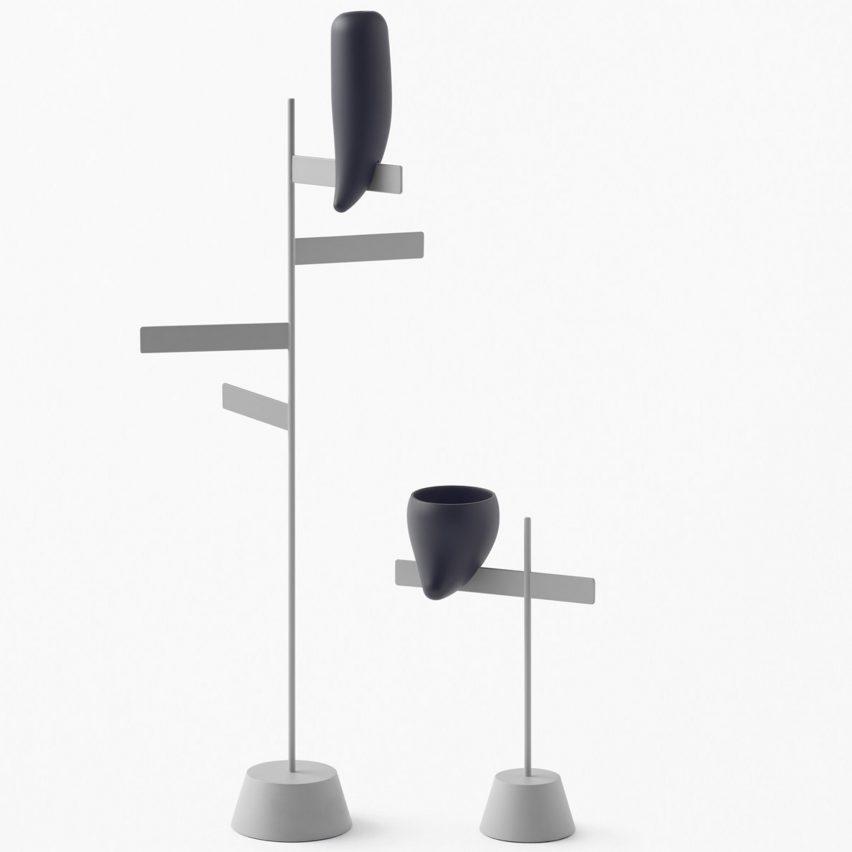 Nendo creates Kanji-inspired furniture and stone-shaped tableware for Zens