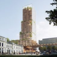 CF Møller and Reiulf Ramstad unveil plans for plant-covered tower in Oslo