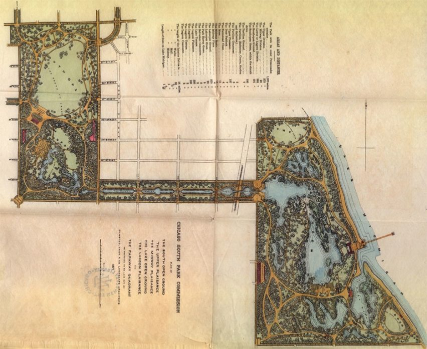 Olmsted and Vaux's plan for Chicago's South Park system