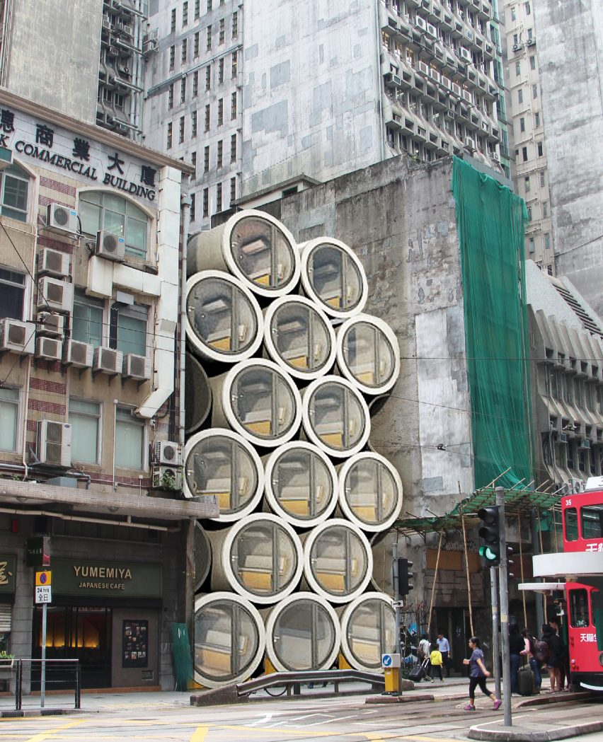 Micro Homes In Pipes Designed To Ease Hong Kongs Housing Crisis Piping Layout Concepts Called Opod Tube The Project Sees 25 Metre Wide Concrete Water Transformed Into 929 Square With Doors That Can Be Unlocked