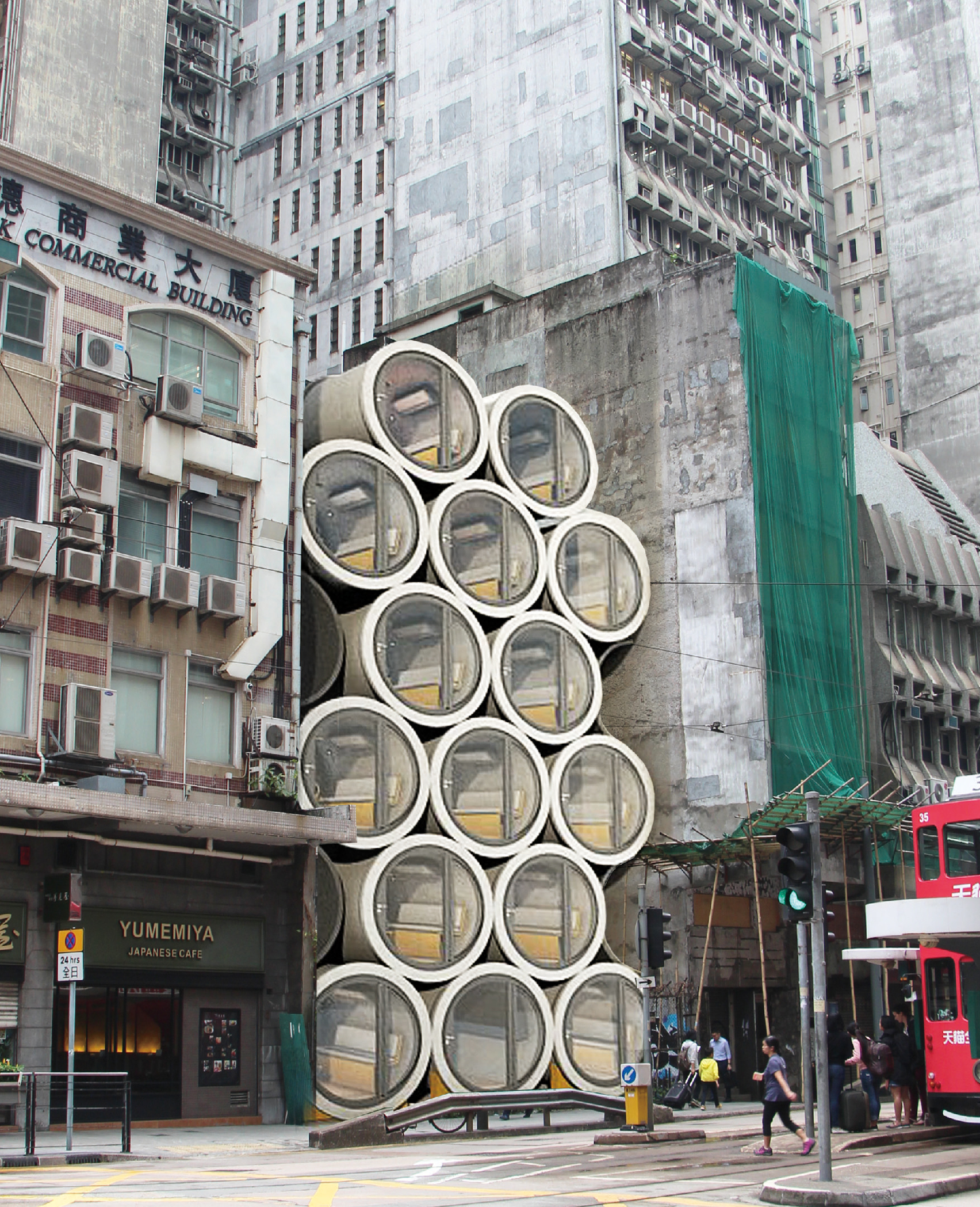 Micro homes inside water pipes could take advantage of unused urban space