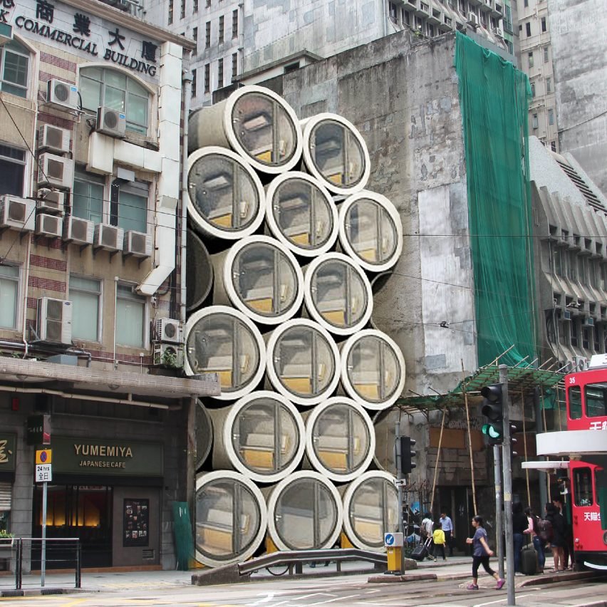 Micro apartments in concrete pipes designed to ease Hong ...