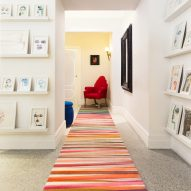 Paul Smith applies his signature multicoloured stripes to a collection of rugs