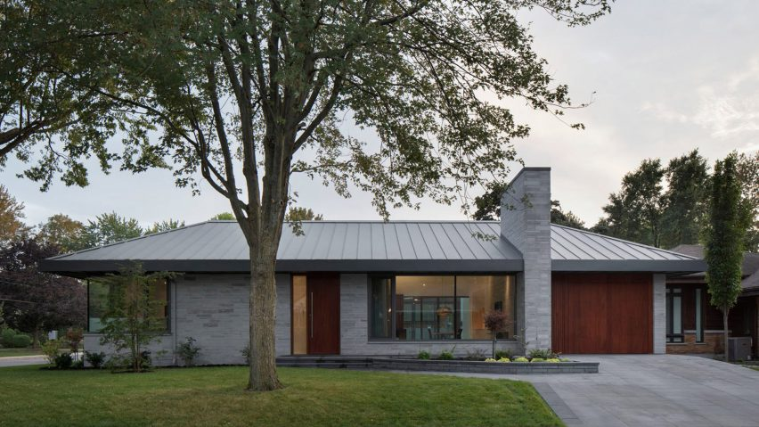 Naturehumaine updates mid-century Prairie House with minimalist interiors
