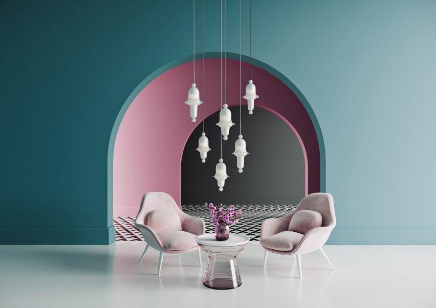 Siren lamps by Preciosa x Dima Loginoff