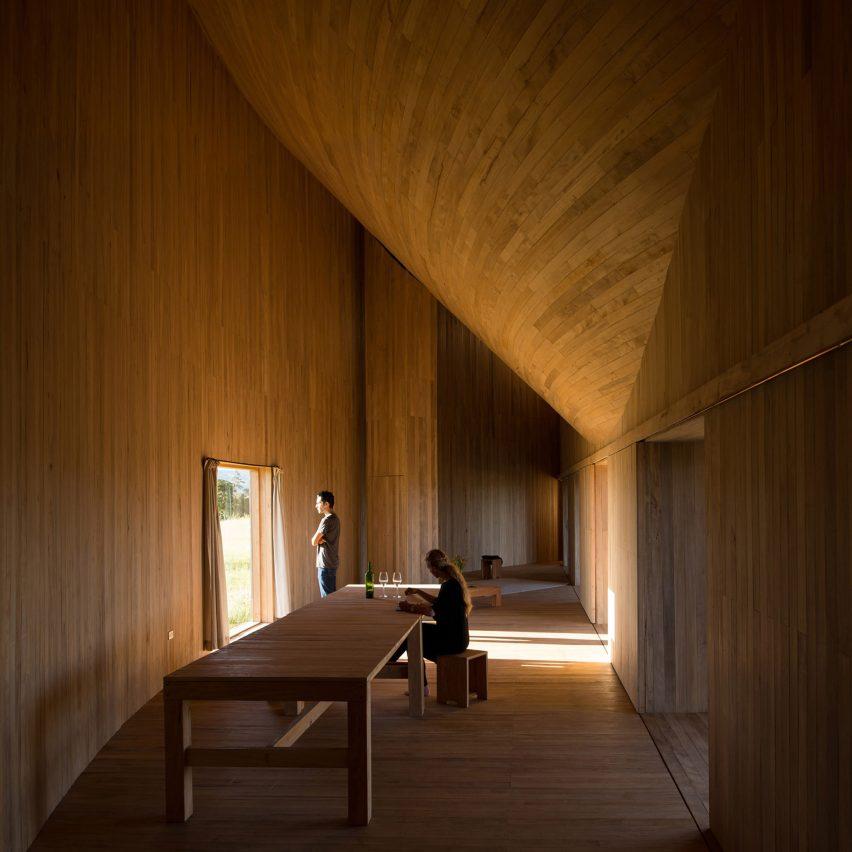Dezeen's top 10 houses of 2018: Rode House, Chile, by Pezo Von Ellrichshausen