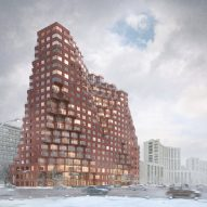 MVRDV designs constructivist-inspired tower block for Moscow