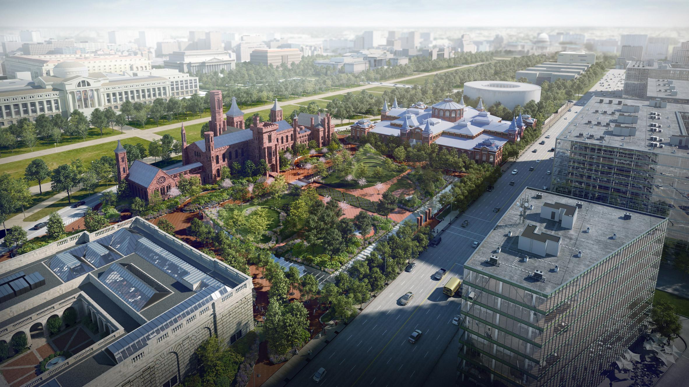 BIG revises Smithsonian campus masterplan in Washington DC
