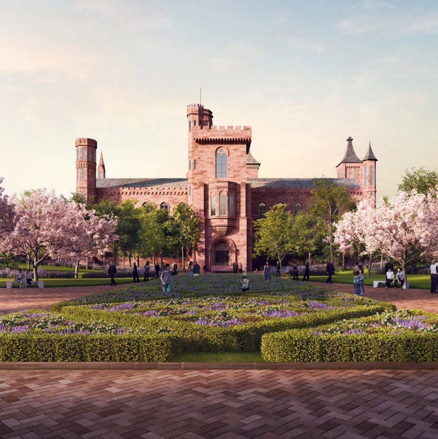 Big revises smithsonian campus masterplan in washington dc for Garden design 1970s