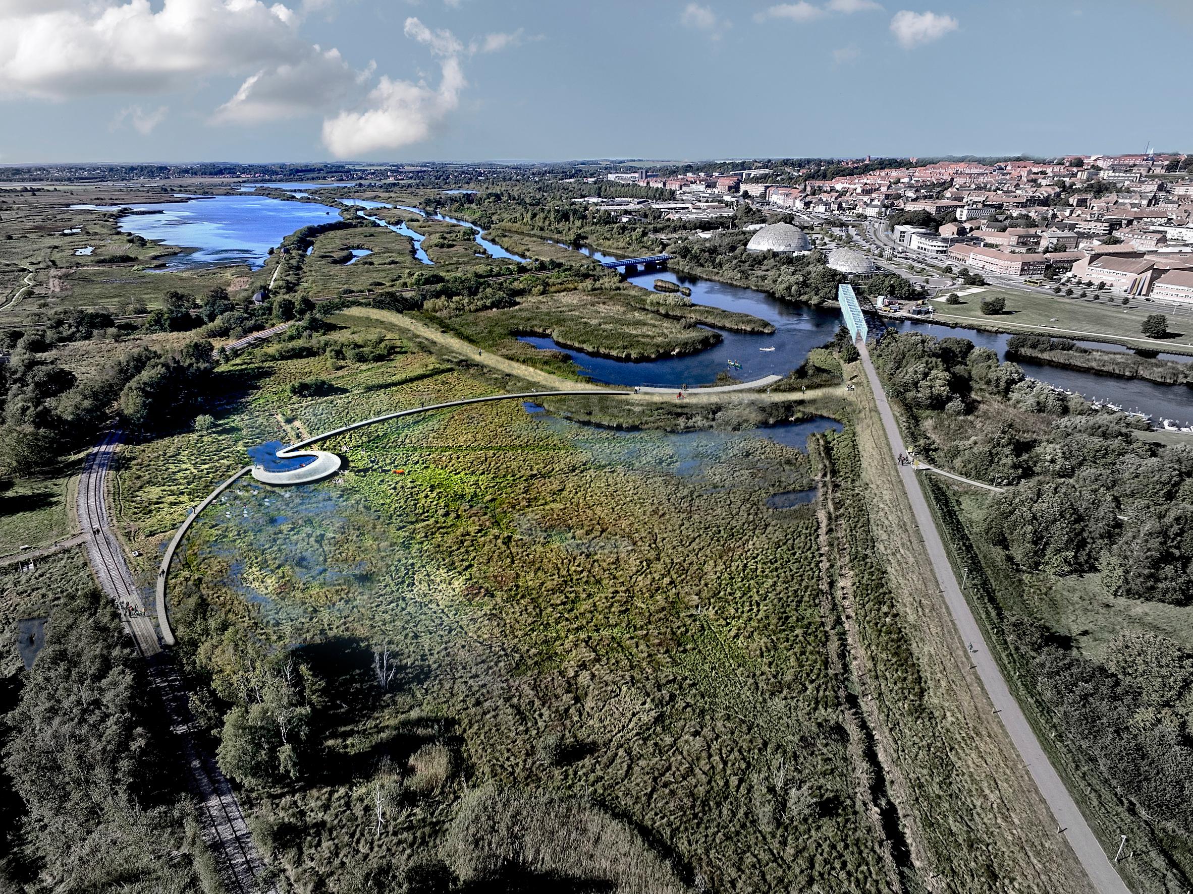 CF Møller's hybrid flood defences will create new nature park in Denmark