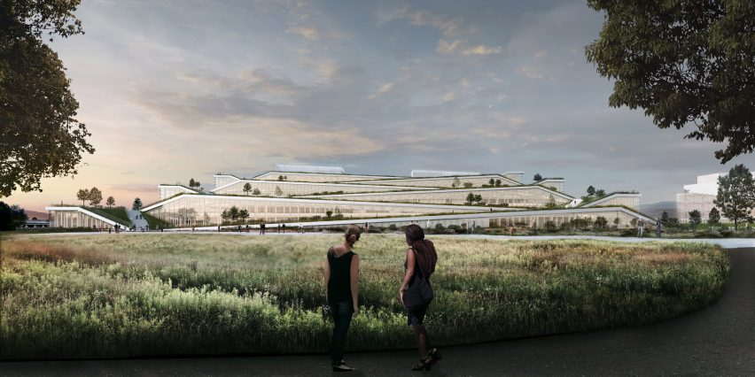 BIG and Google team up for terraced offices in Sunnyvale