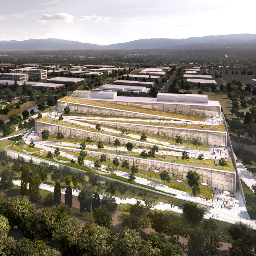 Roof Design Ideas: BIG And Google Team Up For Terraced Offices In Sunnyvale
