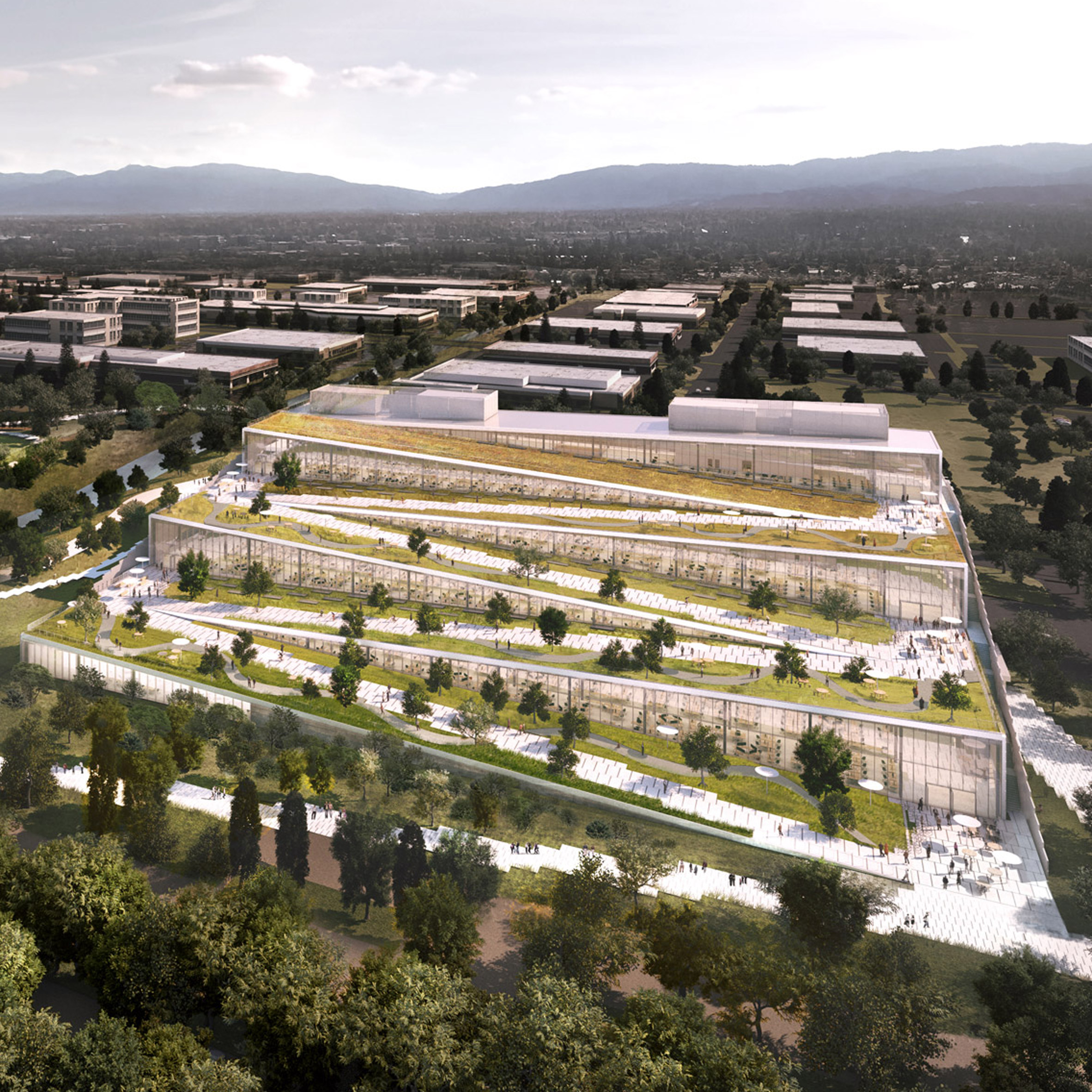 Great BIG And Google Team Up For Terraced Offices In Sunnyvale