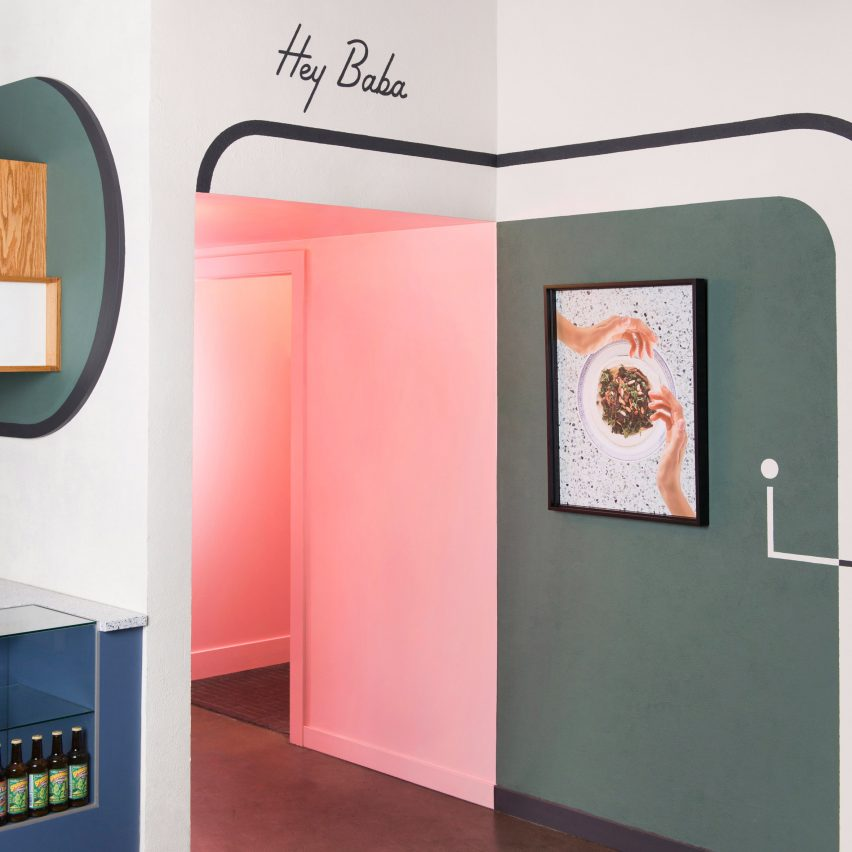 Pita bread shop interior by Studio Roselyn is based on bad food photography