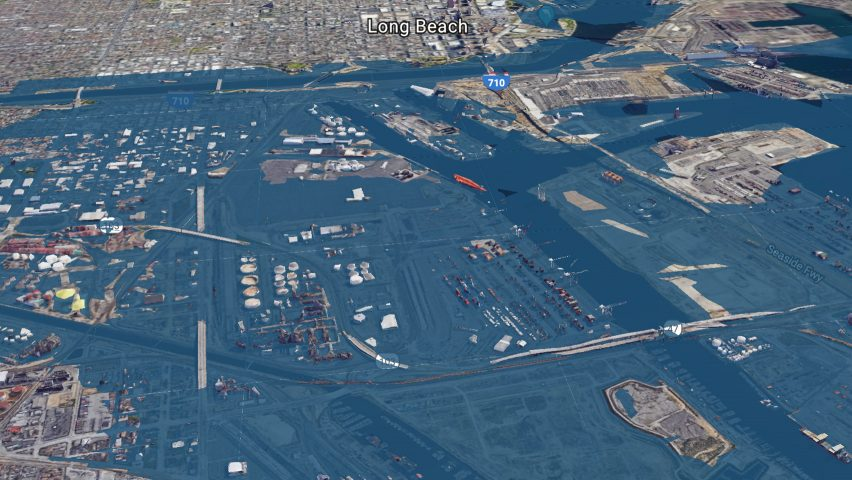 Long Beach seen using the Surging Seas software