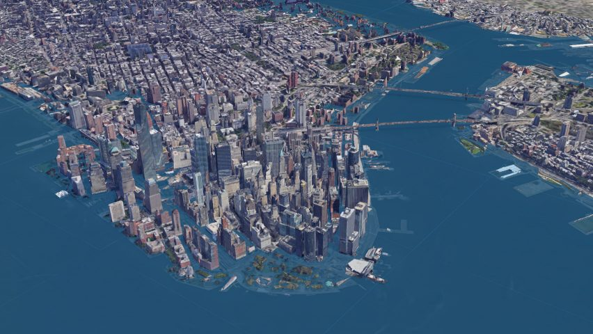 New York seen using the Surging Seas software