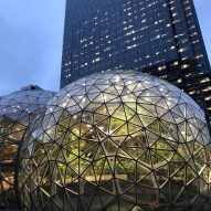 Plant-filled spheres open at Amazon headquarters in Seattle