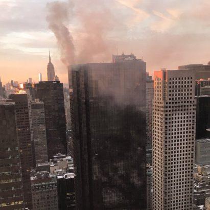 Trump Tower Fifth Avenue fire