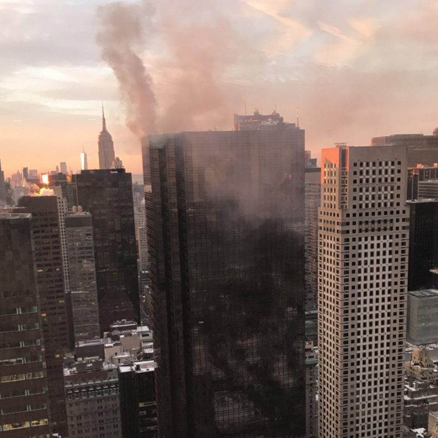 Trump Tower Fifth Avenue fire