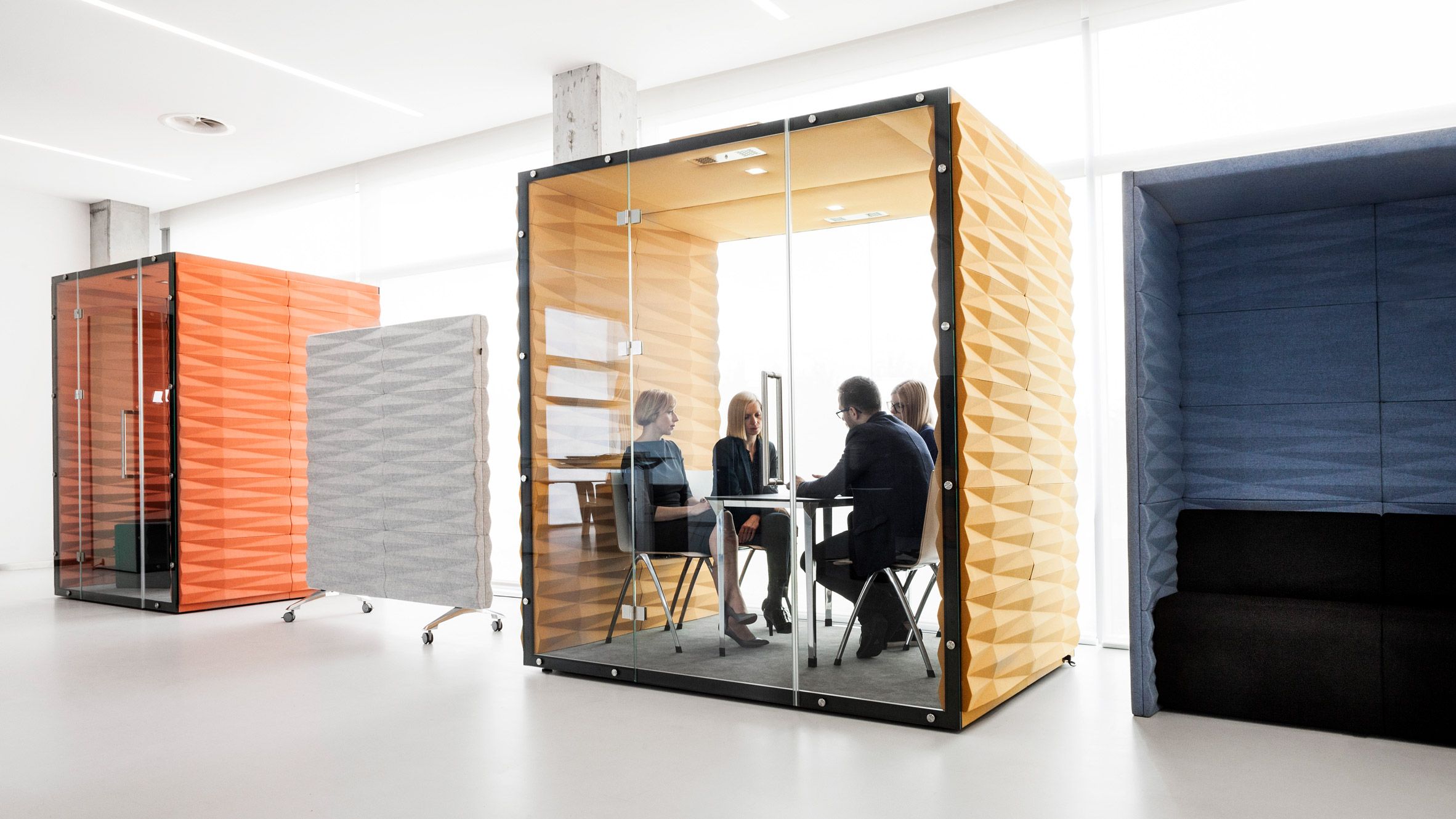 Vank s soundproof pods offer private workspaces for open plan offices