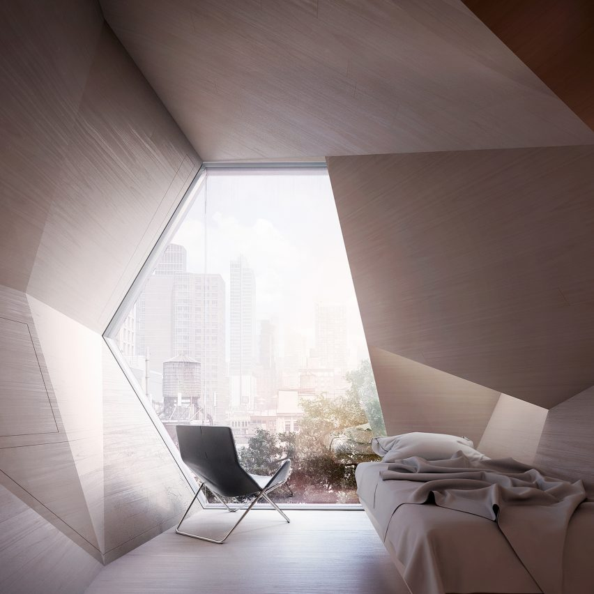 Framlab's Homed proposal seeks to house the homeless population of New York inparasitic pods attached to the exteriors of buildings.