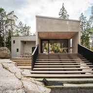 Villa K's angular concrete volumes provide views of a Finnish forest and the Baltic Sea