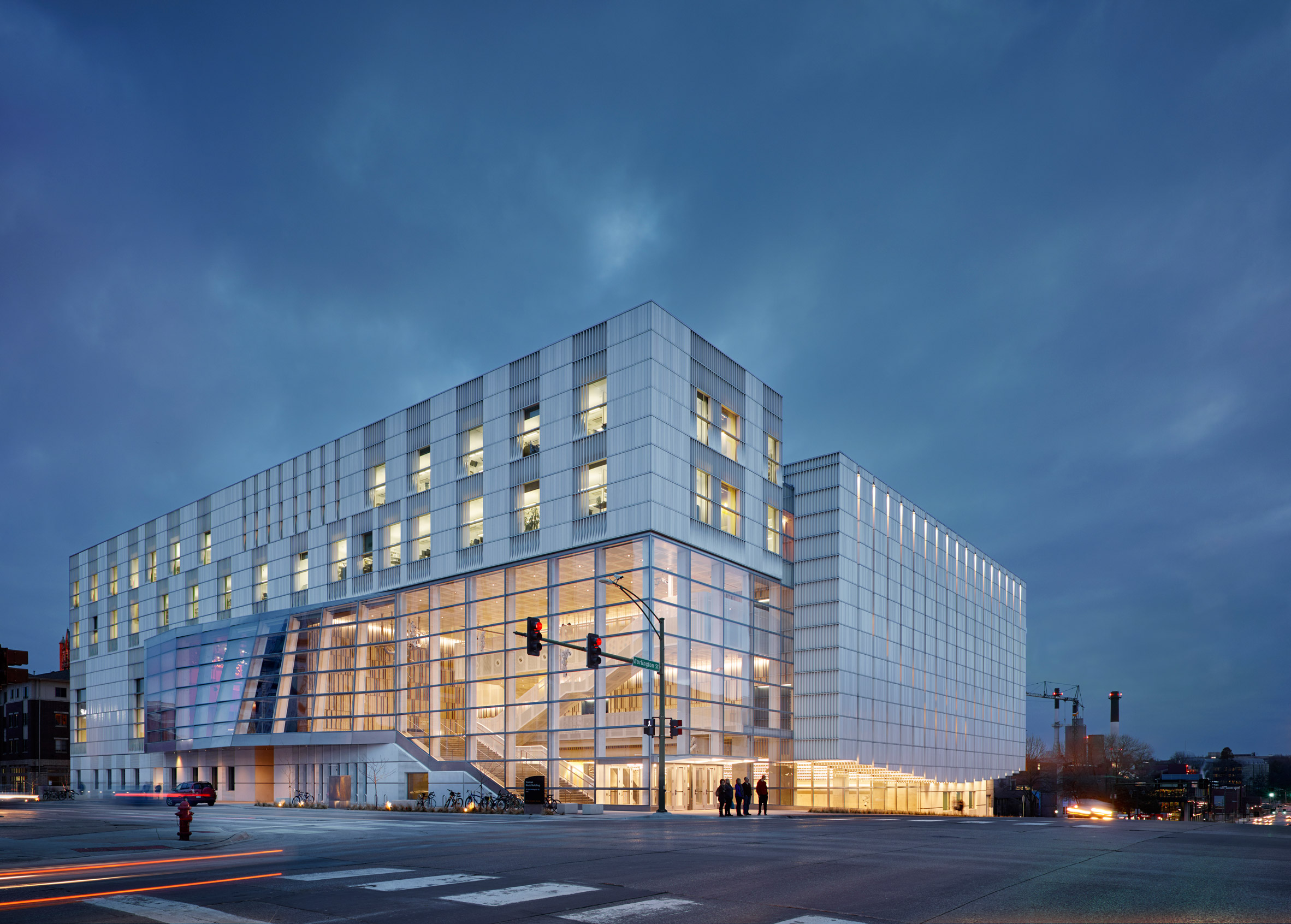 LMN Architects combines textured surfaces for Iowa City concert hall