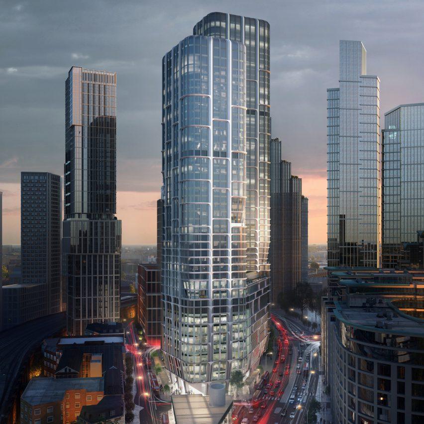 Vauxhall towers by Zaha