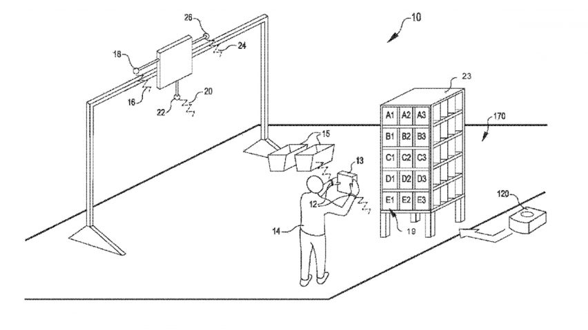 Amazon patents wristband that tracks employees movements dezeen amazon patents wristband to track productivity and direct warehouse staff using vibrations publicscrutiny Image collections