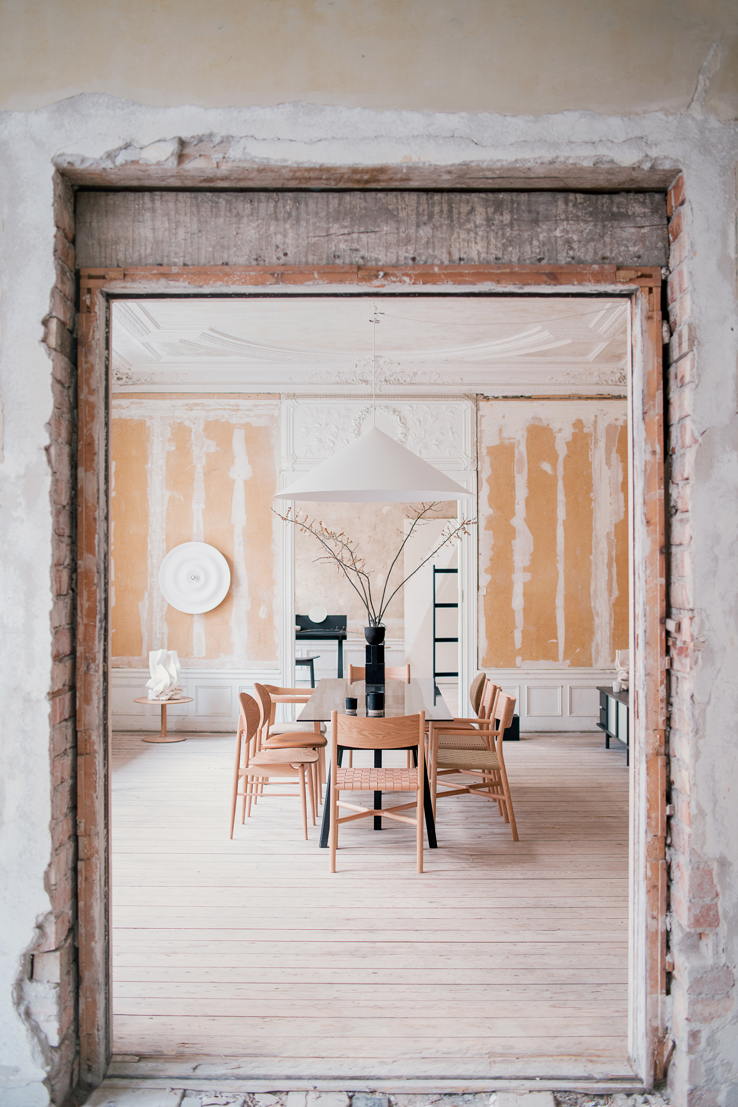 New Japanese furniture brand Ariake presents first range inside crumbling Stockholm embassy